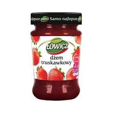 DŻEM ŁOWICZ 280G TRUSKAWKA